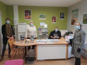 Les bénévoles à la blibliothèque